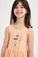 Defacto Kız Çocuk Balerin Kız Baskılı Kolsuz Elbise