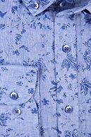 W Collection Mavi Lacivert Spor Gömlek
