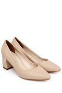 GÖNDERİ(R) Sivri Burun Orta Kalın Topuklu Kadın Ayakkabı 38918