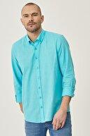 Altınyıldız Classics Tailored Slim Fit Dar Kesim Düğmeli Yaka %100 Koton Gömlek