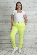 Şans Kadın Yeşil Cep Detaylı Likralı Pantolon 65N19962