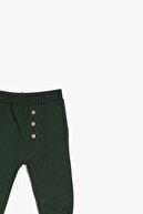 Koton Erkek Bebek Yeşil  Pamuk Düğme Detaylı Eşofman Altı