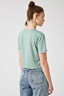 Koton Kadın Ada Çayı T-Shirt 1KAL18845IK