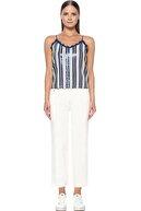 Network Kadın Beyaz Lacivert Bluz 1074630