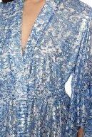 Network Kadın Mavi Desen Elbise 1075569