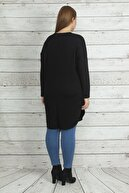 Şans Kadın Siyah Oval Kesim Uzun Tunik 65N20015
