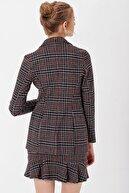 Jument Kadın Siyah Ekose Ceket 30014