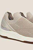 Oysho Kadın Vizon Topuğu Şerit Detaylı Spor Ayakkabı