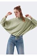Mavi Bağlama Detaylı Yeşil Tişört 1600345-32956