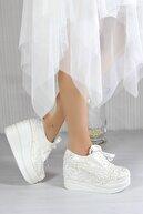 Naturelmoda Carolina Beyaz Converse Gelin Ayakkabısı 18507