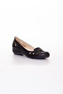 Dilimler Ayakkabı Kadın Siyah Kafes Model Babet