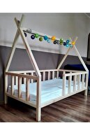 Baby Kinder Apache Doğal Montessori Bebek Ve Çocuk Karyolası