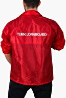 Turk Longboard Unisex Kırmızı Rüzgarlık