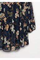 Mango Kadın Lacivert Elbise