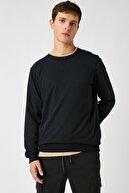 Koton Erkek Siyah Sweatshirt 1YAM71740LK