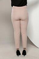 Rmg Kadın Pudra Kumaş Yüksek Bel Dar Paça Pantolon Rg1308