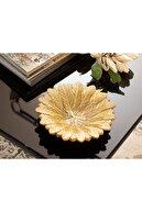 English Home Pure Iris Dekoratif Tabak 19x19x4,5 Cm Gold