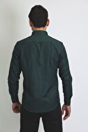 BEARRAYBON Erkek Yeşil Pamuk Gömlek