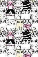 Modanoiva Sevimli Kedi Çizimleri Dijital Baskılı Halı Mrc1946