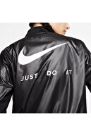 Nike Kadın Siyah Just Do It Swoosh Run Full Zip Ceket Ck0182-010