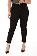 Rmg Kadın Siyah Kanvas Yüksek Bel Dar Paça Pantolon Rg1390yp