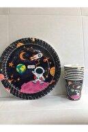 Uzay Astronot Temalı Karton Tabak Bardak Set 8 Kişilik
