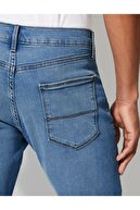 Marks & Spencer Erkek Mavi Straight Fit Streç Jean Pantolon T17001616M
