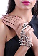 LABALABA Kadın Antik Gümüş Kaplama Kişniş Model Ayarlanabilir Yüzük Detaylı  Şahmeran