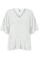 İpekyol Kadın Kırık Beyaz Eteği Volanlı Bluz IW6190006123096