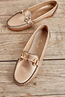 Bambi Altın Kadın Loafer K01542022209