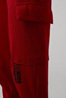 Lela Kadın Kırmızı Yazı Baskılı Beli ve Paçası Lastikli Jogger Örme Eşofman Altı 5413009
