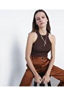 İpekyol Kadın Kahverengi Tarçın Metalik Örme Triko IS1200050081048
