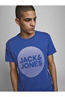 Jack & Jones JCOROJAR TEE SS FST Mavi Erkek T-Shirt 101069371