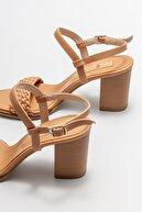 Elle Kadın Camel Topuklu Sandalet
