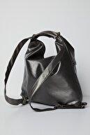 Tonny Black Kadın Gümüş Çok Gözlü Yıkama Kumaştan Kol ve Sırt Kullanışlı Çanta Tbc67