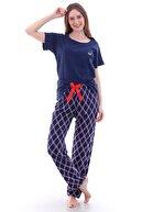 er bello Kadın Lacivert Desenli Pijama Altı
