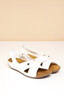 Pierre Cardin Pc-6171 Beyaz Kadın Sandalet