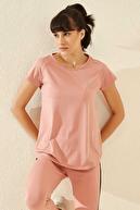 Tommy Life Arka Detay Pudra Kadın Tshirt T05BY-97101_1