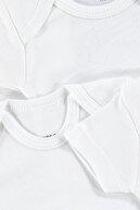 HelloBaby loBaby Bebek Basic Ribana Zarf Yaka 5li Kısa Kol Body - Beyaz