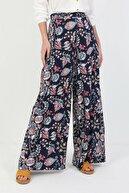 Colin's KADIN Regular Fit Yüksek Bel Geniş Paça Kadın Lacivert Pantolon CL1049543