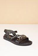 Pierre Cardin PC-2724 Siyah Kadın Sandalet