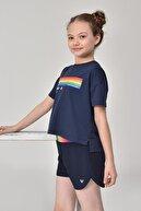 bilcee Lacivert Kız Çocuk T-shirt Gs-8150