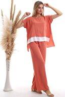 Cotton Mood Kadın Sogan Kabugu Etek Garnili Bluz Pantolon Takım 20333064