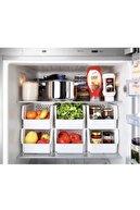 Yellowish 4 Adet Çok Amaçlı Organizer Mutfak Düzenleyici Buzdolabı Dü<enleyici