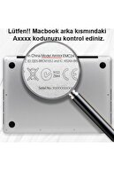 KIZILKAYA Apple Macbook Pro 2020 Gri A2338 13 Inç Touch Bar Touch Id Sert Kapak Koruma Kılıf