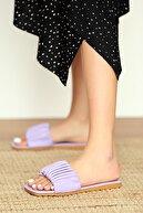 Pembe Potin Kadın Lila Sandalet