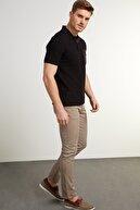 Network Erkek Slim Fit Bej Kanvas Pantolon 1078527