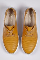 Odal Shoes Kadın Hardal Timsah Derisi Detaylı Oxford Ayakkabı Oxtmshdersi0019614