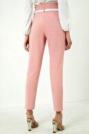 Vis a Vis Kadın Pudra Yüksek Bel Pileli Kemerli Pantolon
