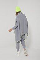 oia W-0950 Düşük Kol Detaylı Salaş Gri Yeşil Pantolon Üst Takım